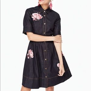 kate spade denim dress with flowers sz 6